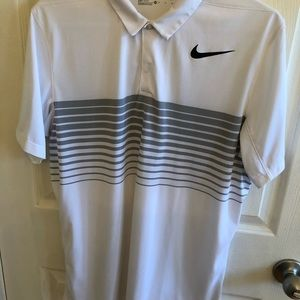 Nike Striped Golf Polo Shirt M Standard Fit